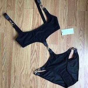 Michael Kors Collection Leather Strap Monokini🕶